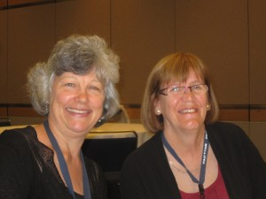 Pam Casey (right) and Carolyn Warnicka enjoy SLA 2012.