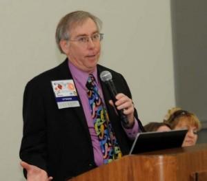 Tom Rink making presentation