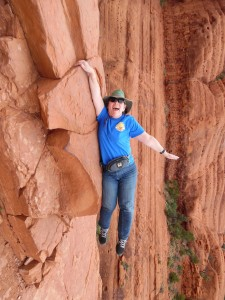 "Denise ""hangs out"" in Sedona, Arizona"