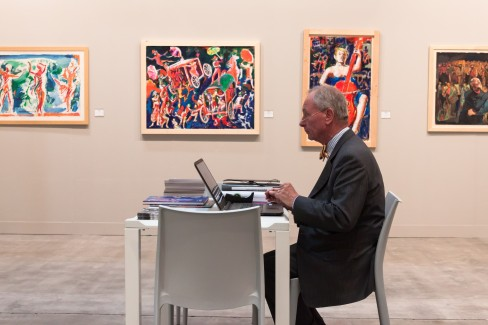 Exhibitor At Miart 2014 In Milan, Italy