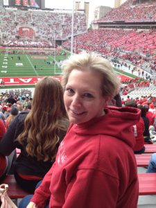 Tina attends her first Ohio State football game.